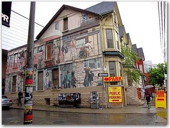 mural, adelaide street, hour, toronto, city, life