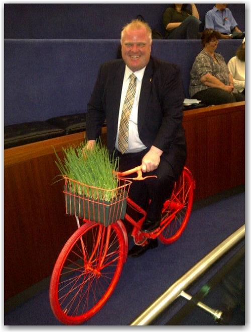painted bicycle, rob ford, mayor, toronto, city, life, blog