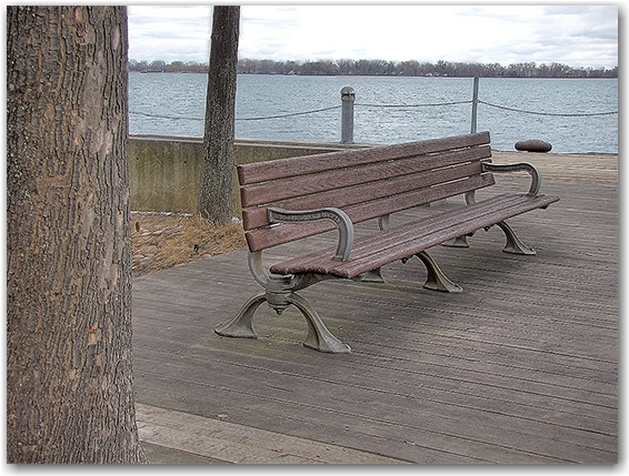 the sighing-est bench on the boardwalk