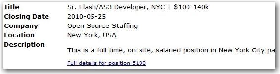job offer, flash developer, toronto, city, life