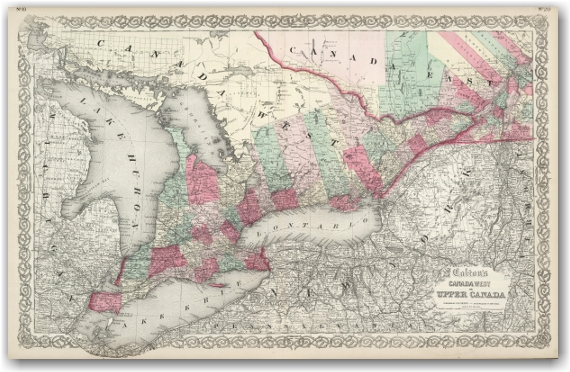 Coltons West or Upper Canada - 1889