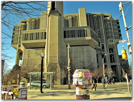 university of toronto, st. george campus, harbord street, building, corner, toronto, city, life