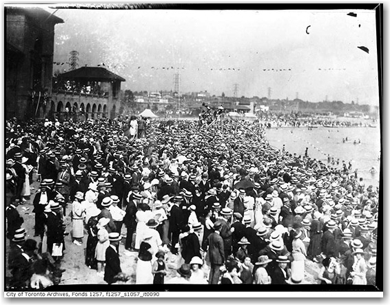 sunnyside beach, archives, history, crowd, toronto, city, life