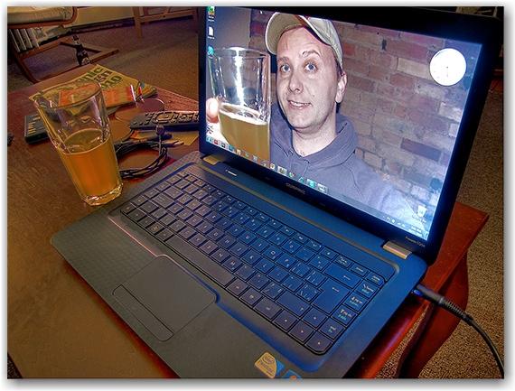 compaq laptop, living room, toronto, city, life