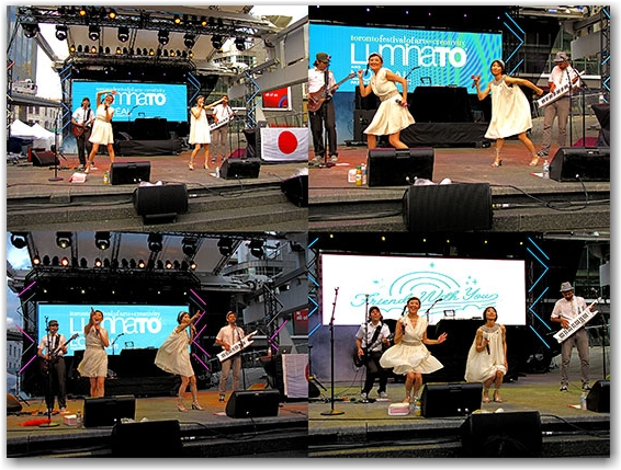 luminato, 2010, the moist towelettes, performers, music, japanese pop, yonge-dundas square, yds, toronto, city, life