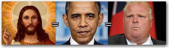 Jesus, Obama, Ford