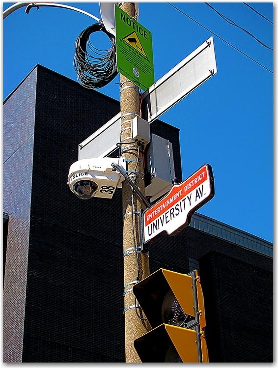 g20, g8, police camera, university avenue, toronto, city, life