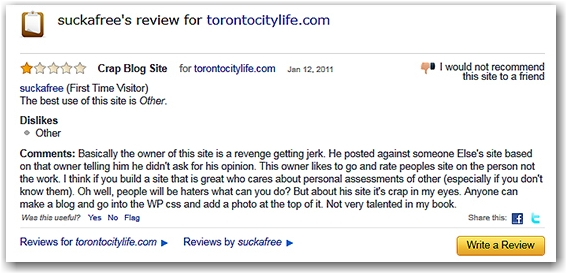 suckafree, review, toronto, city, life, bloge