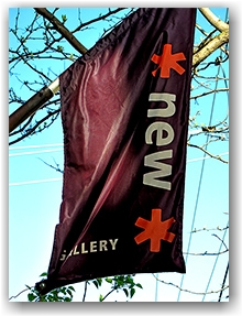 *new* gallery, art, queen street west, banner, toronto, city,life