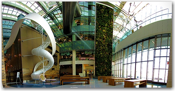 corus quay building, interior, slide, toronto, city, life, blog