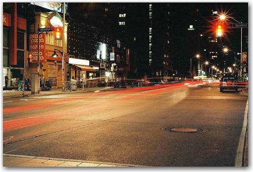 bloor & spadina long exposure