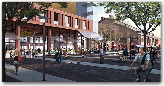 yellow team, st. lawrence market, north hall, revitalization  project, design, toronto, city, life