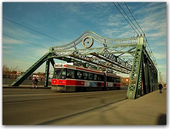 west don lands, queen street bridge, parkway, stairs, bridge, toronto, city, life