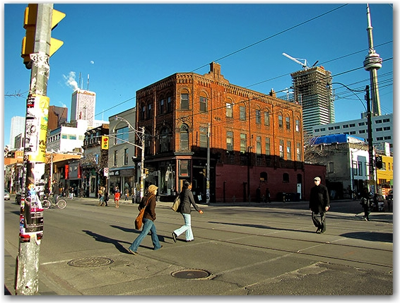 edges, limits, boundaries, borders, queen street west, peter street, 1834, toronto, city, life