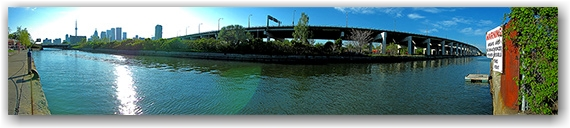 canal, gardiner expressway, lakeshore, cherry street, waterfront, east dock lands, toronto, city, life