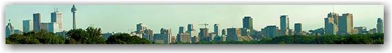 panorama, skyline, toronto, city, life