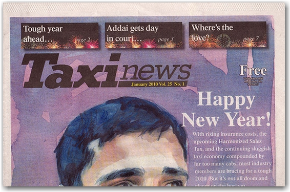 taxi news cover, newspaper, toronto city, life
