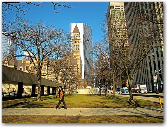 old city hall, nathan phillips square, queen street east, toronto, city, hall
