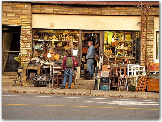 gerrard street, antiques, shop, store, sidewalk, shoppers, toronto, city, life