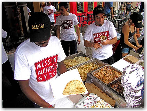 messini, gyros, greek food, taste of the danforth, toronto, city, life