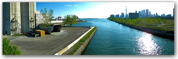 east dock lands, cherry street, bridge, skyline, canal, toronto, city, life