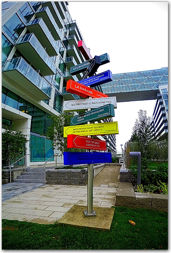 Signpost at Pier 27, Queen's Quay
