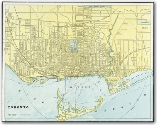 Crams Standard American Atlas - Toronto - 1889