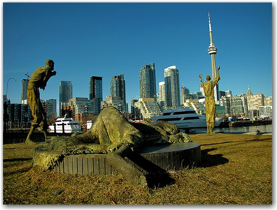 ireland park, famine, irish, immigrants, toronto, city, life