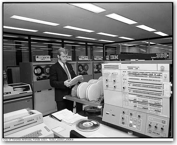 toronto archives, computers, computing, history, historic, toronto, city, life