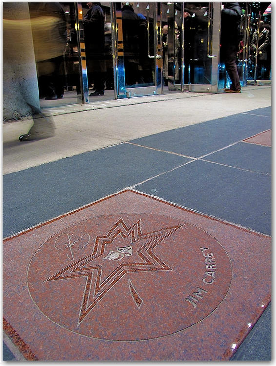jim carrey, canada's walk of fame, plaque, sidewalk, concrete, entertainment district, king street west, toronto, city, life