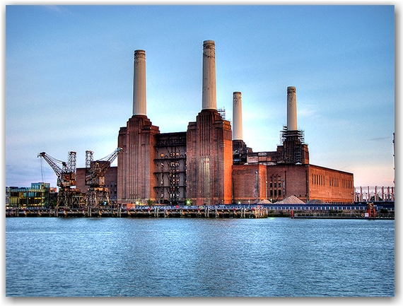 Battersea Power Station on the Thames