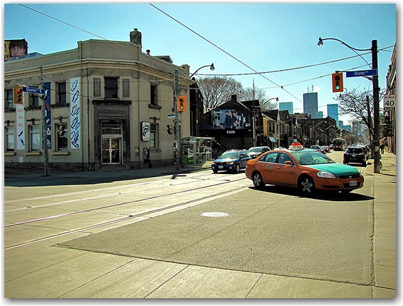 queen street east, river street, city, limits, boundaries, edges, 1834, toronto, city, life