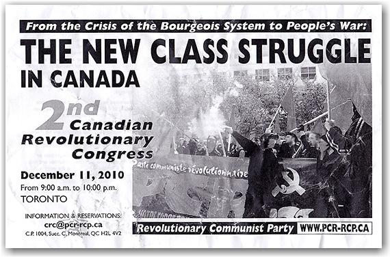 canadian revolutionary congress, communist, communism, propaganda, leaflet, toronto, city, life