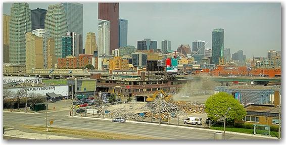 demolition, queen's quay, guvernment, skyline, panorama, toronto, city, life, blog
