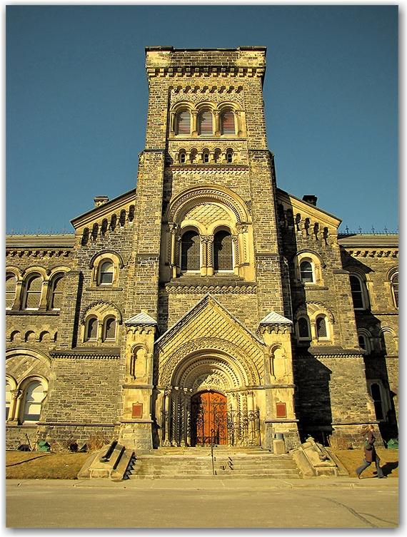 university of toronto, st. george campus, main hall, quad, field, toronto, city, life