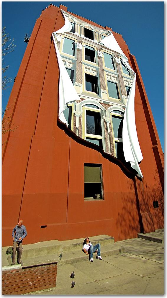 flatiron, building, facade, berczy park, wellington, front, streets, toronto, city, life