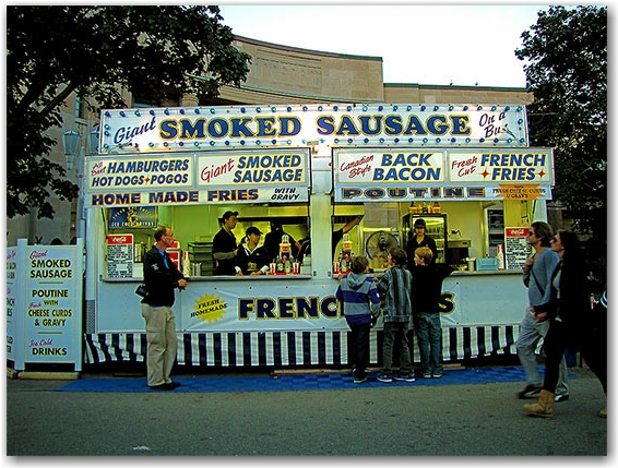somed sausages, concession stand, cne, canadian national exhbition, toronto, city, life