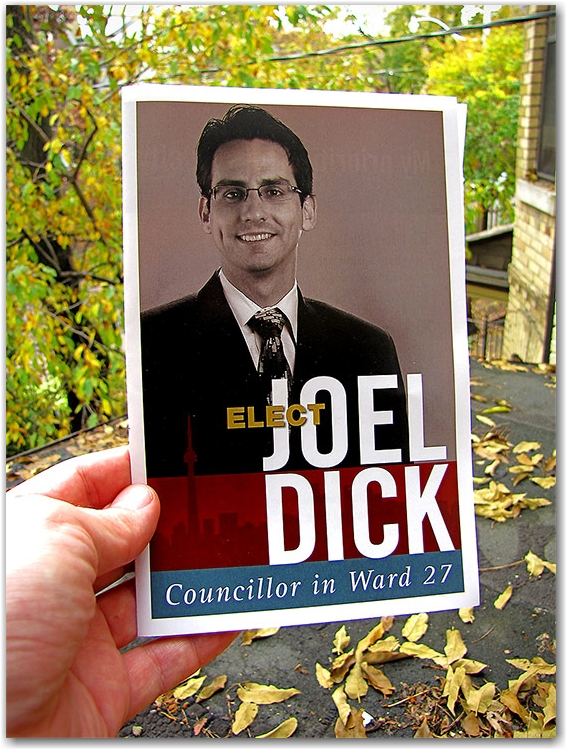 joel dick, councillor, ward 27, municipal elections, toronto, city, life