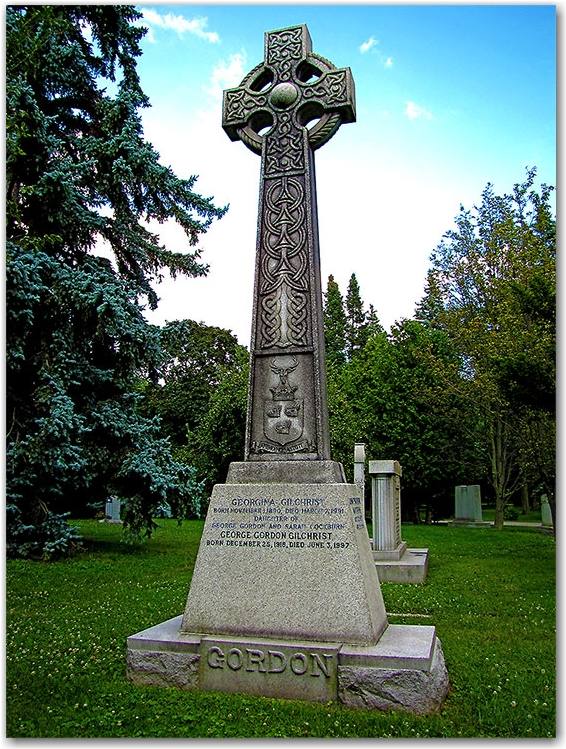 gaelic cross, grave, mount pleasant cemetery, toronto, city, life