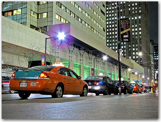 taxis, cabs, king street west, bmo, nesbitt burns, banks, financial district, toronto, city, life