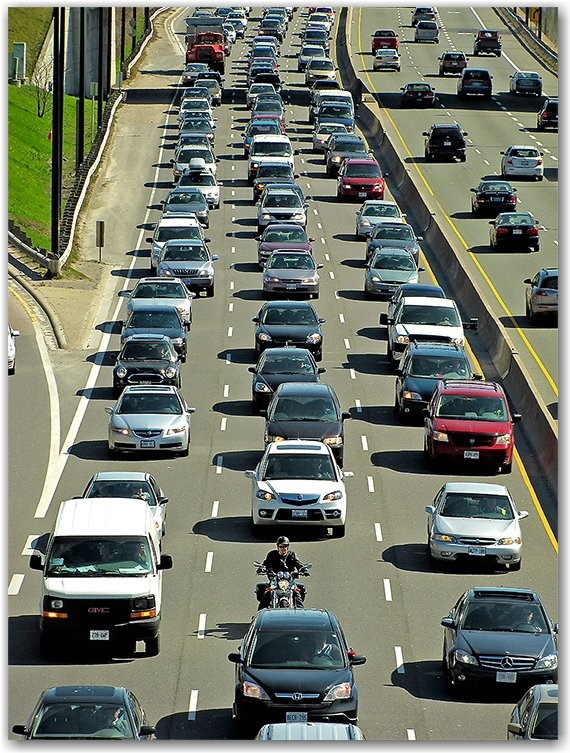 traffic, dvp, don valley parkway, toronto, city, life