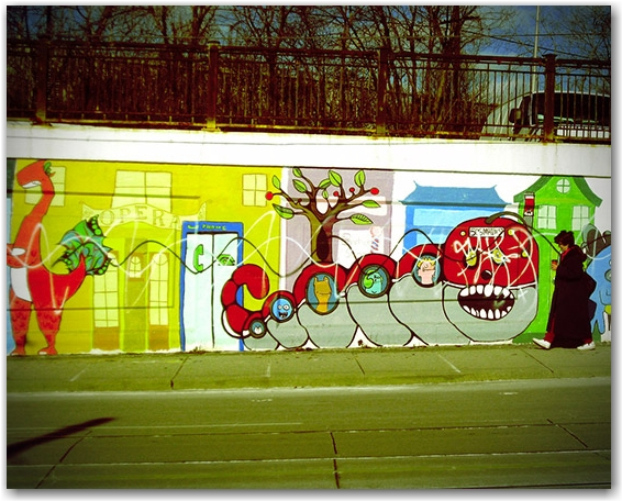 chris, shrek, photography, flickr, underpass, graffiti, street art, toronto, city, life
