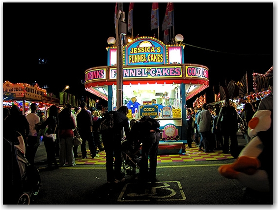 funnel cakes, concession stand, cne, canadian national exhibition, toronto, city, life