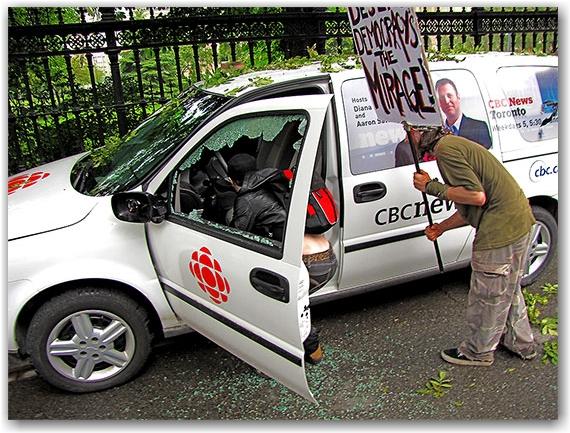 g20, riots, protesters, vandalism, cbc news, van, queen street west, toronto, city, life