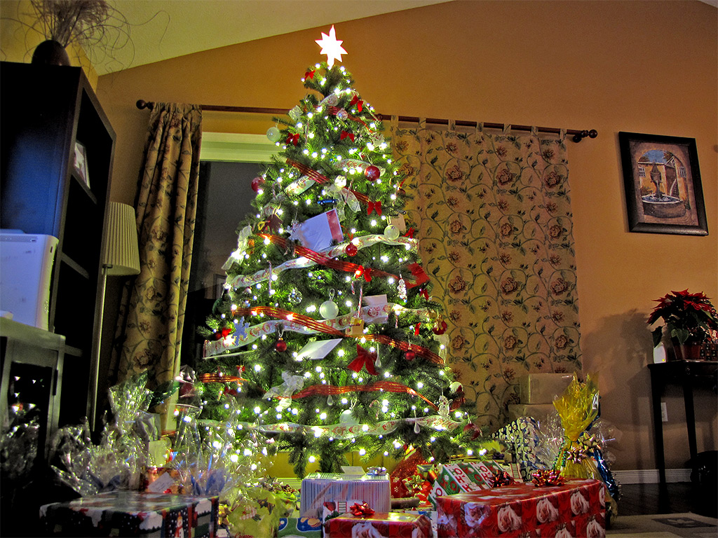 christmas tree gifts presents living room toronto city life
