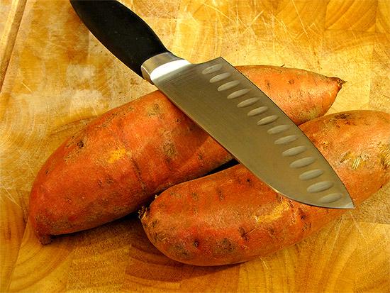 yams, sweet potatoes, knife, cutting board, toronto, city, life