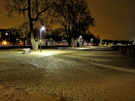 woodbine beach, boardwalk, sand, park benches, skyline, toronto, city, life