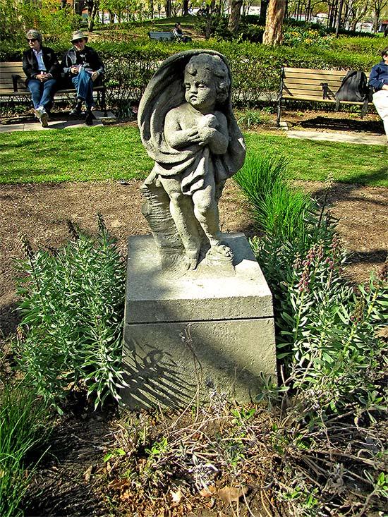 statue, stone, st. james park, saint, cathedral, wellington, king, streets, east, toronto, city, life