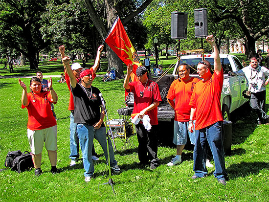 red power, native rights group, protests, protesters, g20, allan gardens, toronto, city, life