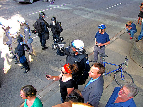 montreal riot police, video recording, g20, protests, university avenue, toronto, city, life